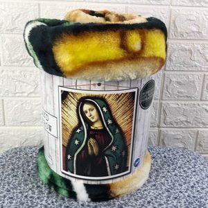Virgin Mary Plush Throw
